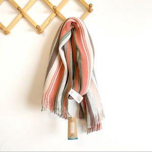Prana NWT large striped scarf